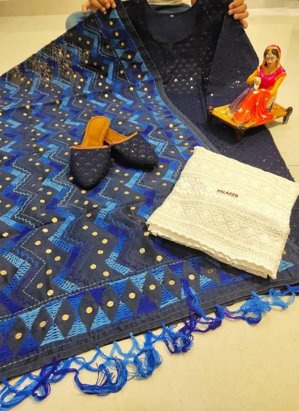 Vikash Eshan Pure Chicken Cotton Handmade Kashmiri Jhaller Work Punjabi Style Wedding Wear Designer Salwar Suits Collection
