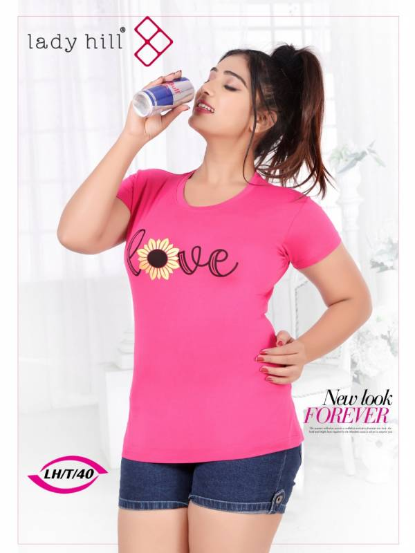 Lady Hill Vol 40 Seies 40A-40F Premium Lycra With Printed New Fancy Girls T-shirt Collection