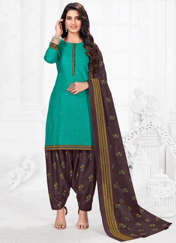 Riddhi Siddhi Priya Vol 5 Series 5001-5014 Printed Cotton New Designer Casual Wear Readymade Patiyala Suits Collection