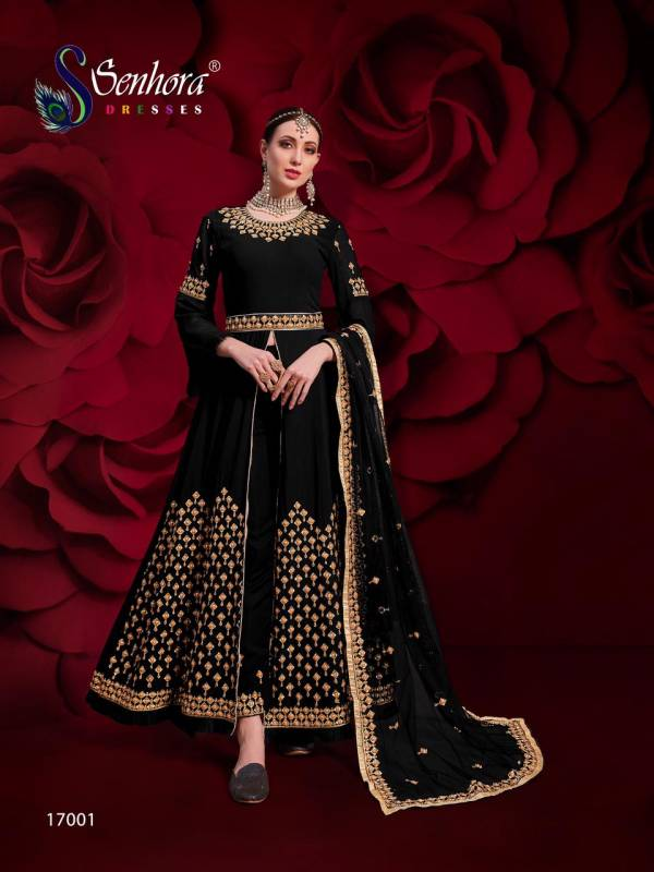 Senhora Dresses Vol 17 Agha Noor  Pure Georgette With Heavy Embroidery Work Anarkali Suits Collection