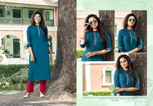 Shubh NX Heer Rayon Embroidery Work  Readymade Designer Kurti Collection