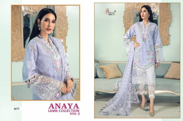 Shree Fab Anaya Lawn Vol 3 Pure Lawn With Embroidery Work Pakistani Suits Collection