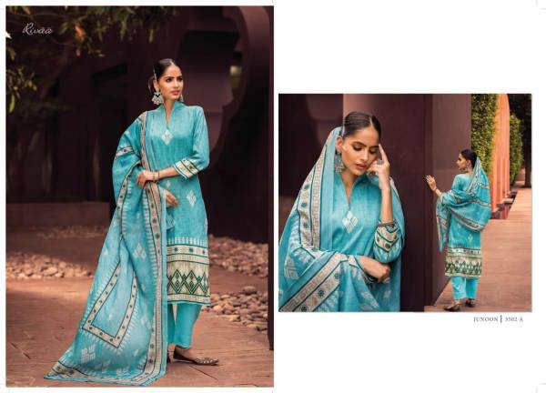 Rivaa Junoon Glace Cotton With Printed Regular Wear Salwar Suits Collection