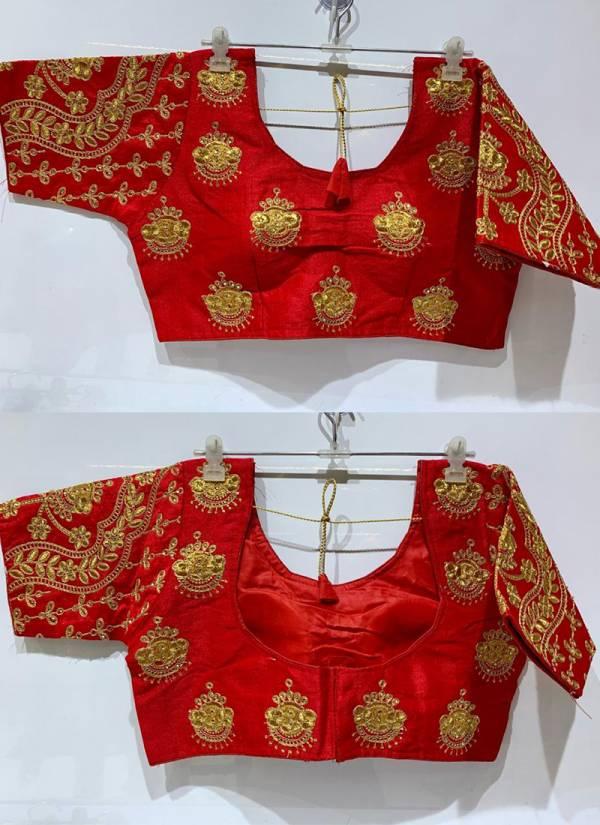 Ruhi Fashion Series 52365-52372 VD3 Phantom Silk Zari Embroidery Work & Trandy Wear Traditional Wear Blouses Collection