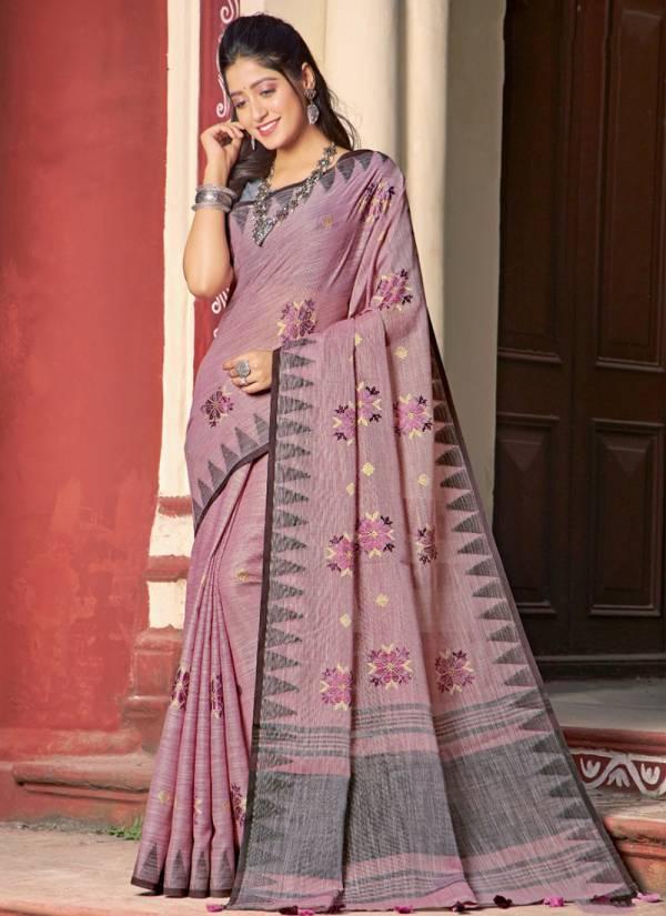 Sangam Vintage Handloom Series vintagehandloom-4001-vintagehandloom-4006 Linen Cotton New Fancy Casual Wear Sarees Collection