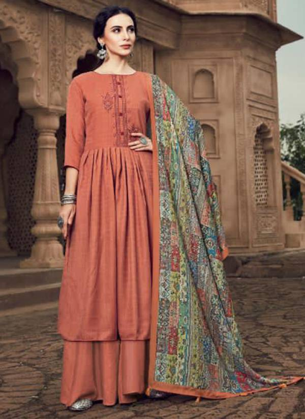 Sargam Prints Yasmin Vol 3 Series 211-001 - 211-006 New Designer Pure Pashmina With Fancy Work Stylish Look Suits Collection