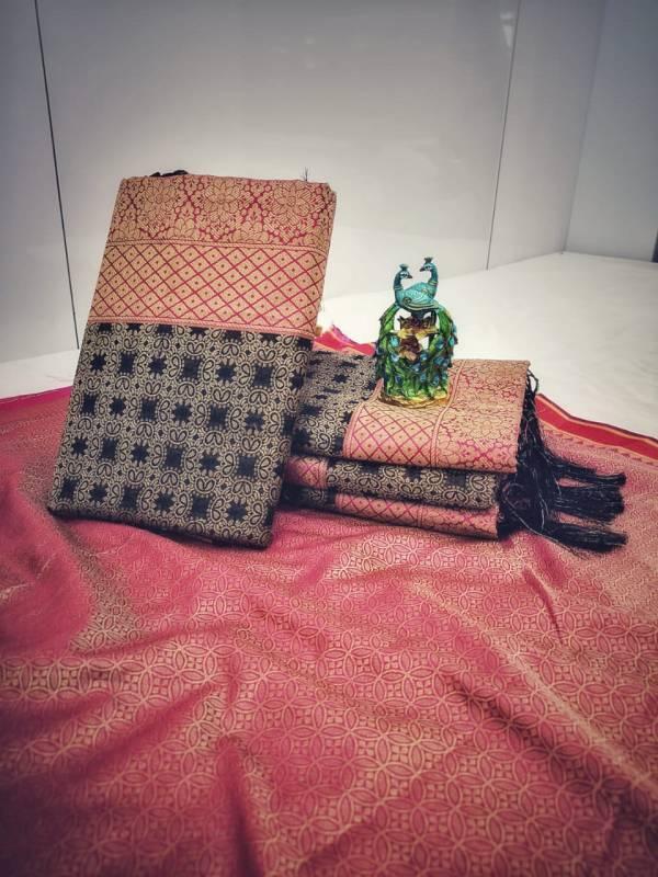 Shiv Enterprise Kumkum Cotton Soft Silk Fancy Embroidery Work Reception Wear Designer Sarees Collection