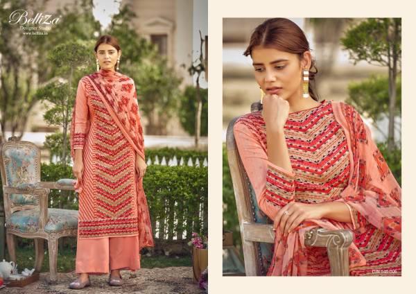 Belliza Designer Melisa Pure Cotton Digital Printed Casual Wear Palazzo Suits Collection