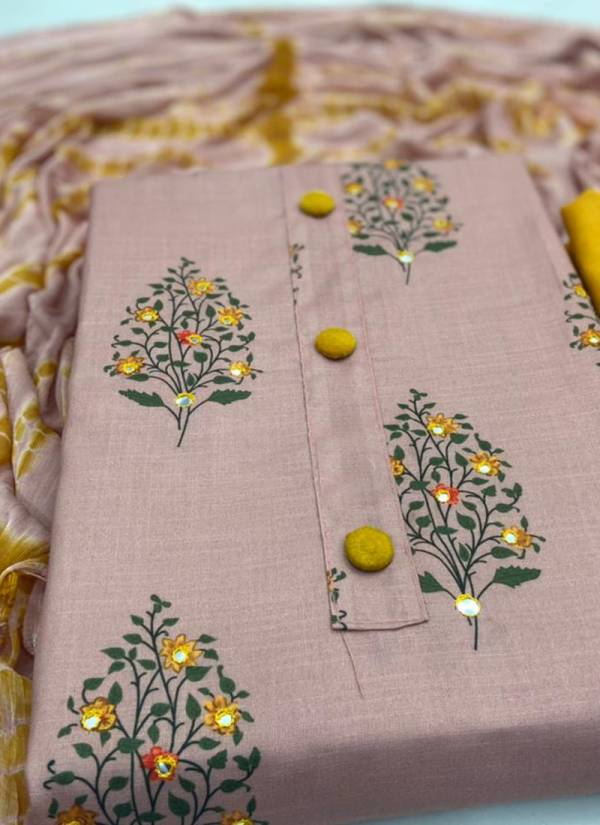 Designer Suits Series 01-04 Slub Cotton Najmeen Printed Casual Wear Dress Materials Collections