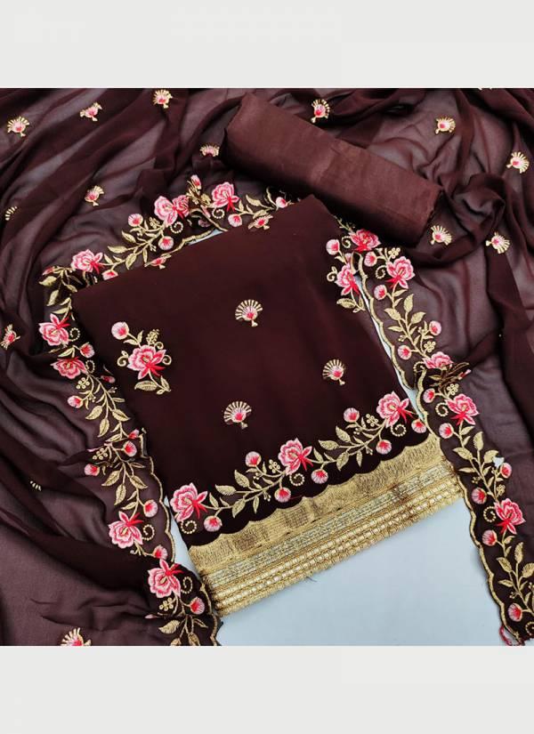 Designer Suit Georgette Multi Work Festive Wear Designer Dress material Collection