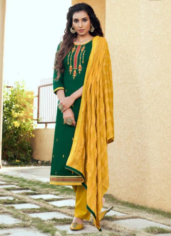 Kalarang Saloni Vol 4 Series 1881-1884 Jam Silk Cotton With Embroidery & Sequance Work Party Wear Fancy Suits Collection