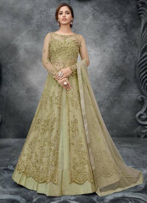 Rama Fashion Raazi Aroos Heavy Net  Hand Work Anarkali Suits Collection