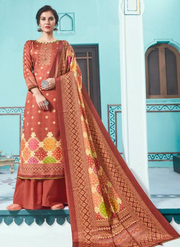 Bipson Hayat Vol 2 Series 1131-1134 Latest Designer Tusser Silk Digital Print Casual Wear Salwar Suits Collection