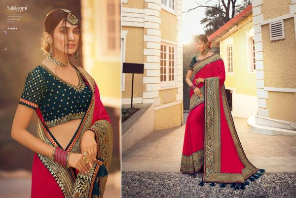 D Style Sulakshmi Sunshine Series 6401-6409 Pure Tussar Silk With Heavy Border Work Party Wear Sarees Collection
