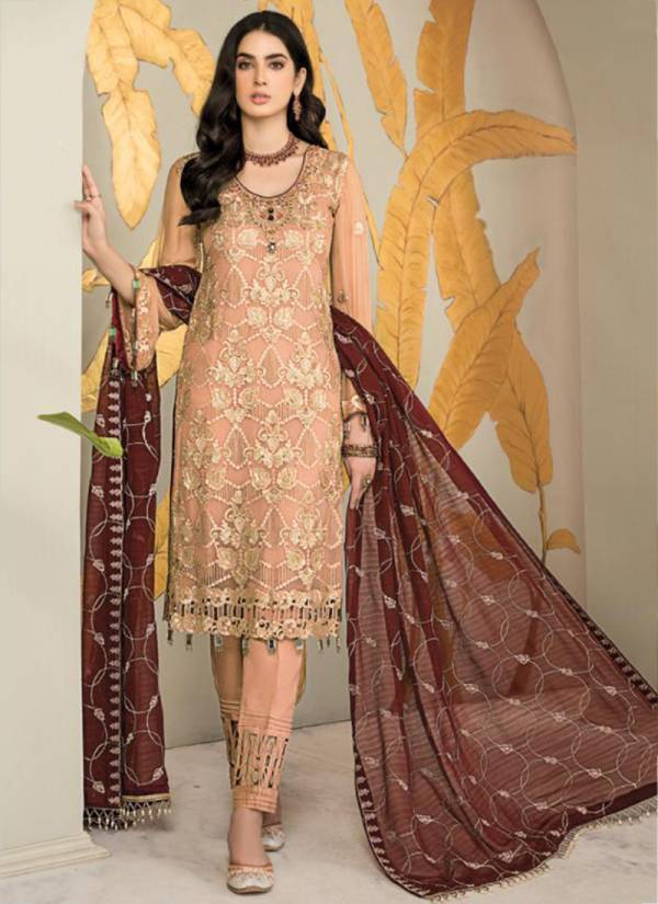 Ramsha Vol-13 Georgette With Heavy Embroidery Work Casual Wear Designer Pakistani Suits Collection