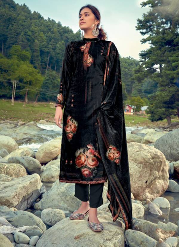 Kala Fashion Muskan Series 5001-5008 Velvet With Digital Print Fancy Winter Season Suits Collection