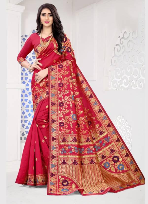 Kodas Sargam Series 8433A-8433D Handloom Jacquard Silk Stunning Designer Party Wear Sarees Collection