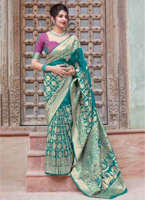 Manjubaa Maniyaar Gharchola Series 3701-3704 New designer Wedding Wear Silk Sarees Collection