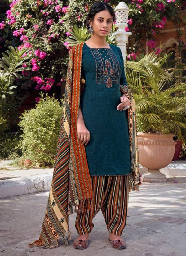 Tanishk Fashion Gulabo Series 15401-15408 Pashmina Print Hairing Bond With Embroidery Work Traditional Wear Suits Collection