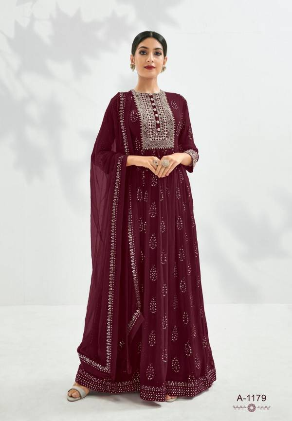 Eba Lifestyle Prime Rose Vol 1 Pure Georgette With Heavy Embroidery Work  Anarkali Suit Collection