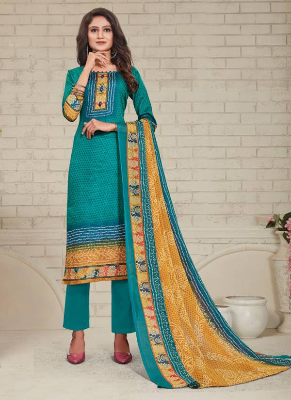 Bipson Preeto Glace Cotton Fancy Print Work Regular Wear Designer Dress Collection