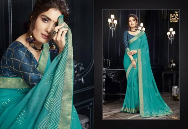Vishal Prints Anupama Black Chiffon Fancy Tarditional Wear Sarees Collection