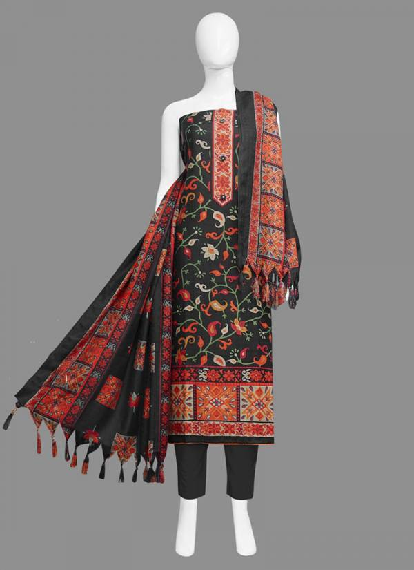 Bipson Preeto Series 1000A-1000D Pure Pashmina Printed With Fancy Work New Fancy Regular Wear Straight Suits Collection