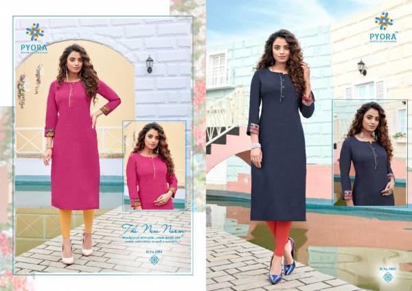 Pyora Diva Vol 1 Pure Swiss Slub Cotton Casual Wear Kurtis Collection