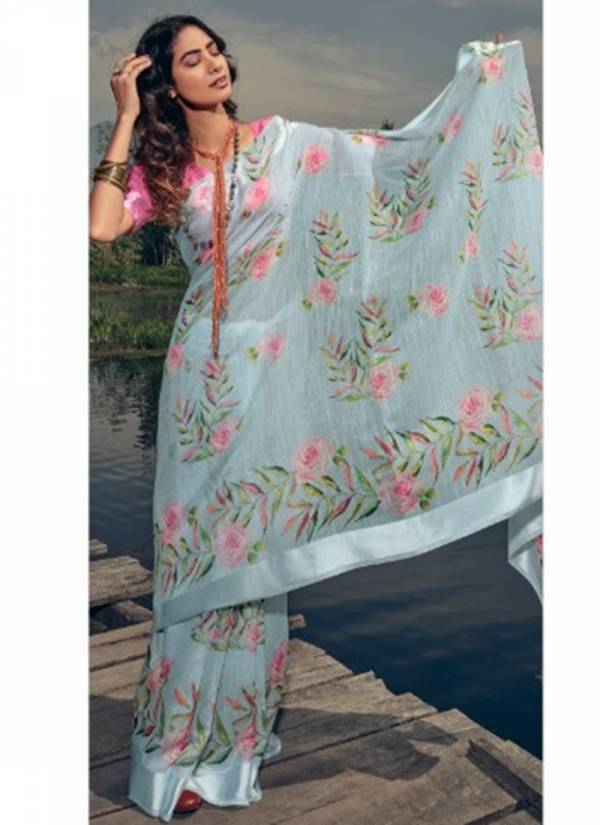 Lt Silk Route Silk Fancy Designer Digital Printed Work Party Wear Designer Sarees Collection