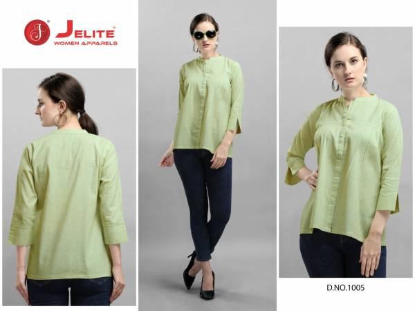 Jelite Carnation 2 Pure Cotton Casual Wear Designer Top Collection