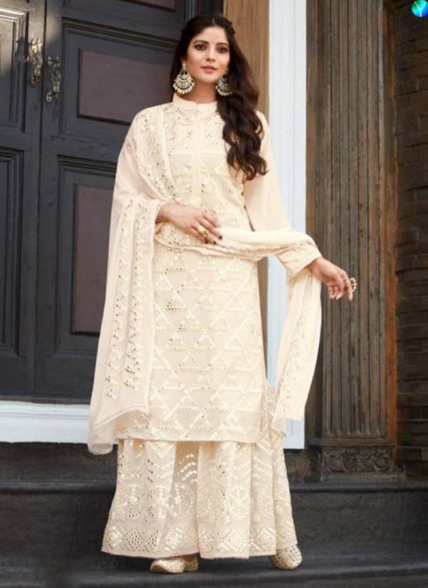 Your Choice Dollar Series 3601-3604 Georgette With Mirror Work Casual Wear Designer Palazzo Suits Collection