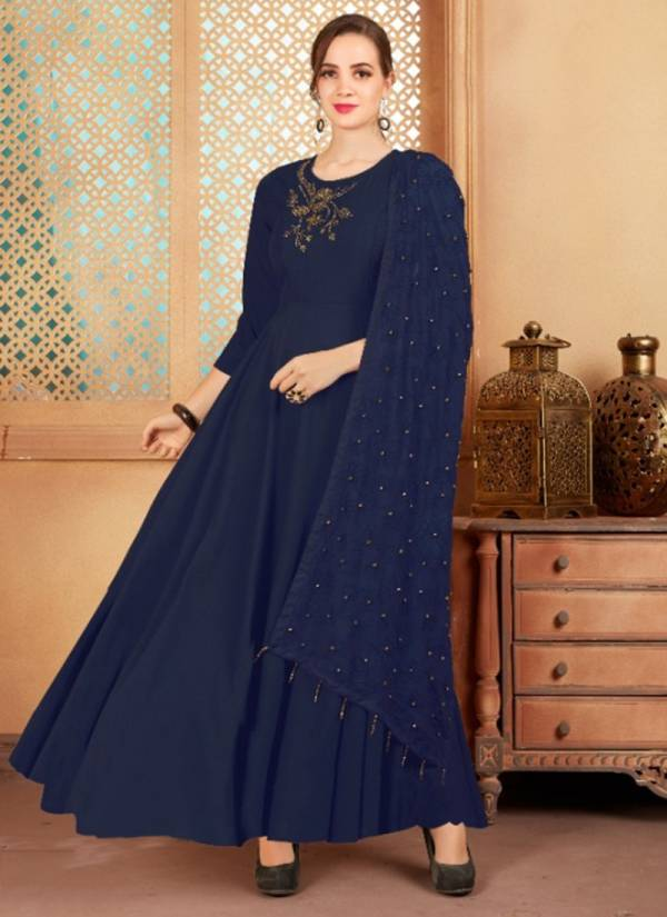 Sweety Fashion Shelton Vol 2 Series 1001SHELTON-1006SHELTON Pure Muslin New Designer Festival Wear Gowns With Work Dupatta Collection
