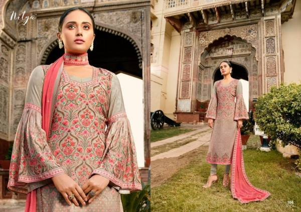 LT Jarokha Pure Viscose Muslin Digital Print With Hand Work Designer Salwar Suits Collection