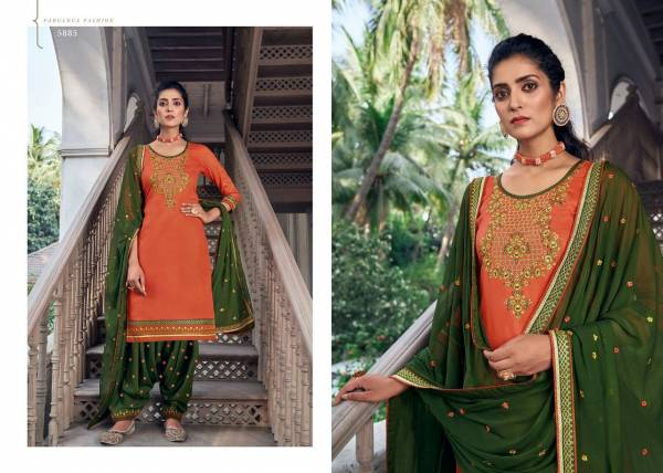 KVS Patiyala House Vol 84 Jam Silk With Work Fancy Embroidery Work Wedding Wear Designer Patiyala Suits Collection
