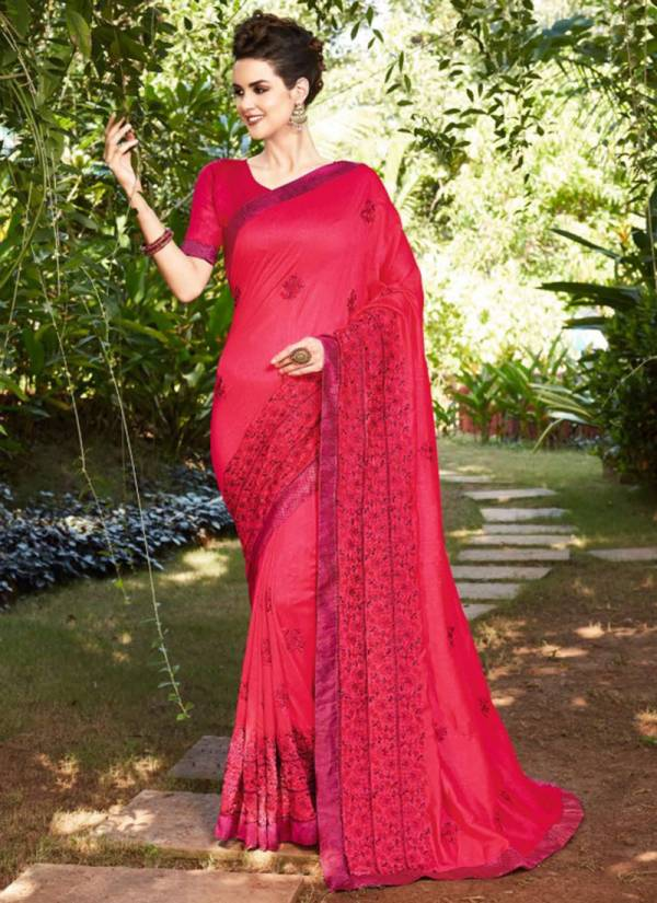 Kalista Fashion Passion Series 48477-48486 Fancy Exclusive Designer Stunning Look Party Wear Heavy Embroidery Work Fancy Sarees Collection For Woman