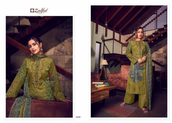 Zulfat Designer Suits Aakruti Pure Cotton Digital Print Palazzo Suits Collection