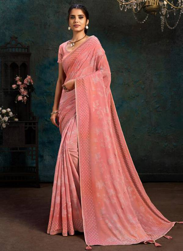 Mahotsav Shrihitha Series 21105-21117 Silk Georgette With Foiling Digital Printed Stone Work Designer New Look Party Wear Sarees Collection