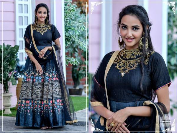 Arpi Fashion Peafowl Vol 64 Series 1065-1072 Chennai Silk With Hand Work & Embroidery Work Readymade Gowns Collection (Only Top Stitched)