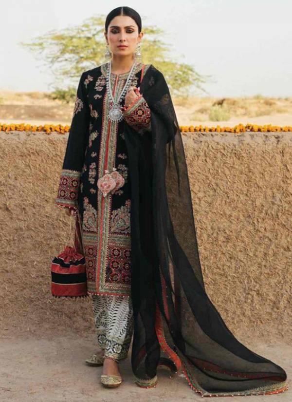 Rinaz Fashion Fox Georgette Fancy Designer Embroidery Work Festival Wear Designer Pakistani Suits Collection