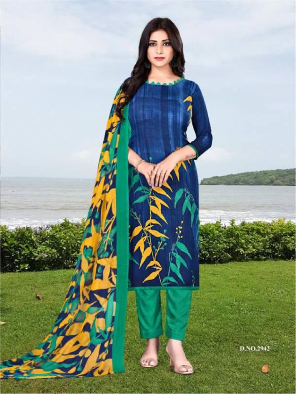 Vishnu Print Desi Girl Crape Daily Wear Designer Suit Collection