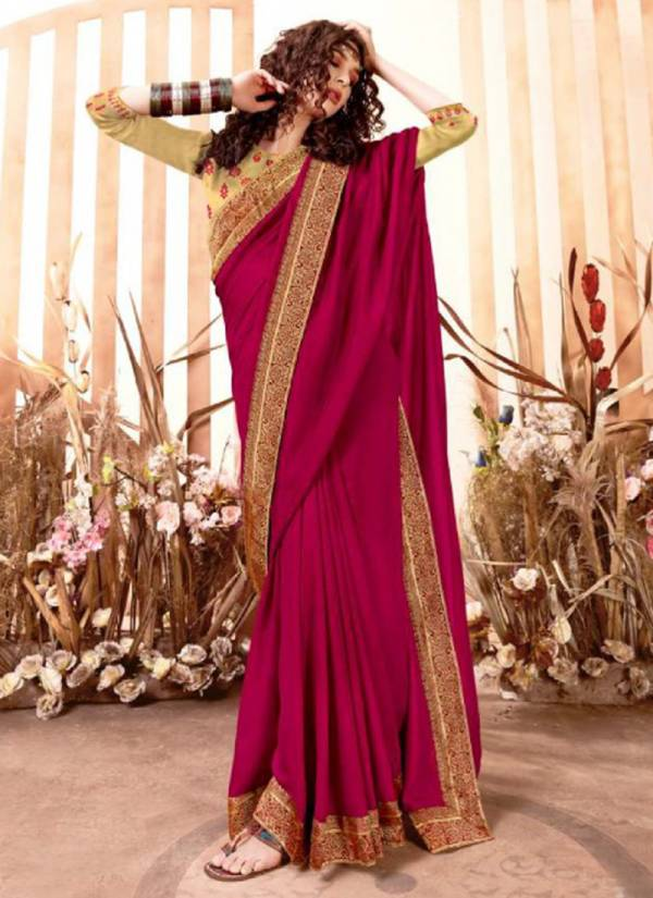 Right Women Designer Naira Vichitra With Zari Border Casual Wear Designer Sarees Collection