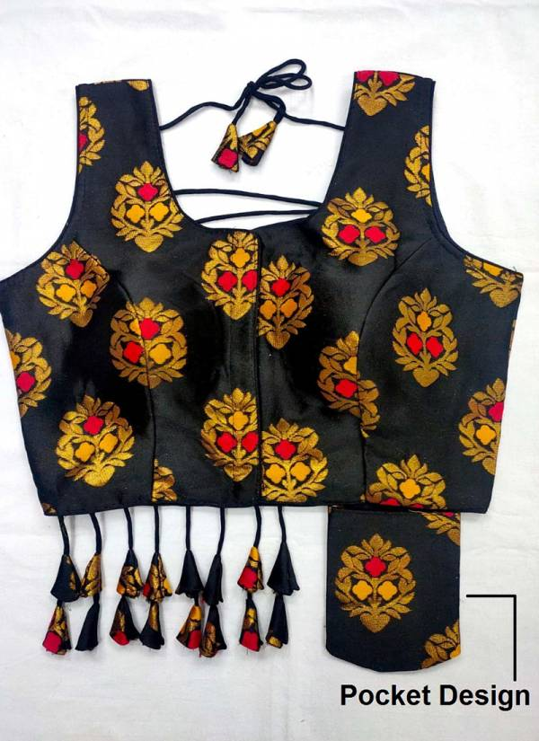 Ruhi Fashion Series 251-251K Heavy Meena Jacquard With New Pocket Designer Party Wear Fancy Readymade Blouse Collection