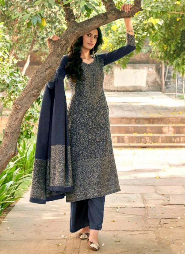 Kalki Fashion Gulmohar Vol 3 Series 388-395 Pure Handloom Weaving Pashmina With Jacquard Weaving Gorgeous Look Winter Suits Collection
