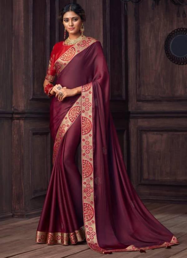 The Fashion Hub Rajkumari Series 9101-9108 Party Wear New Designer Fancy Border Work Silk Sarees Collection