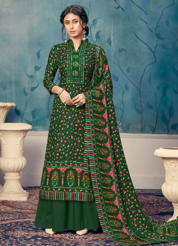 Alok Suit Kashmiri Queen Series 683-001 - 683-010 Daily Latest Designer Winter Special Pure Wool Pashmina Digital Kashmiri Prints Palazzo Suits Collection
