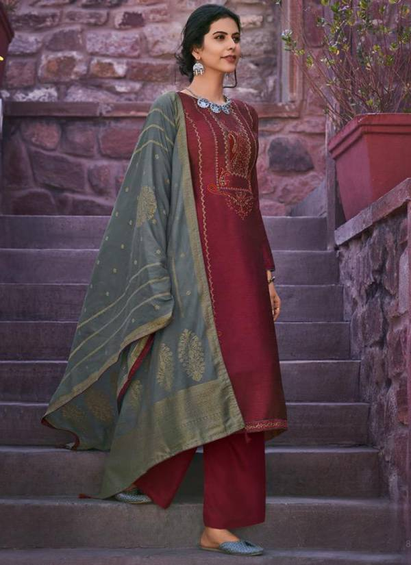 Deepsy Mirai Series 89001-89006 Mulberry Silk With Self Embroidery Work New Designer Palazzo Suits Collection