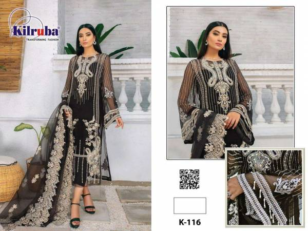 Kilruba Hit Design Organza With Embroidery Work Eid Festival Pakistani Suits Collection