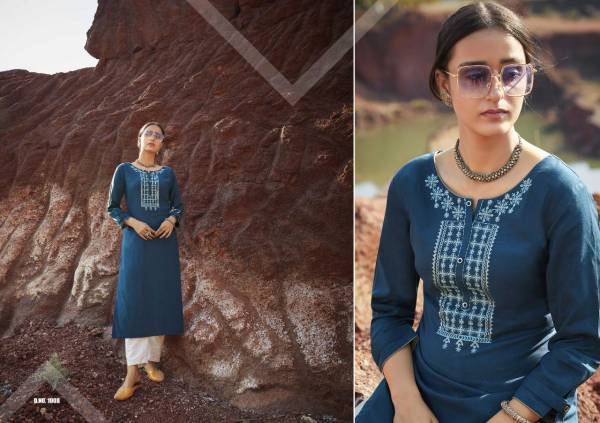 Kalaroop Lily Vol 18 Series 1001-1008 Heavy Rayon With Embroidery Work New Designer Daily Wear Kurtis Collection