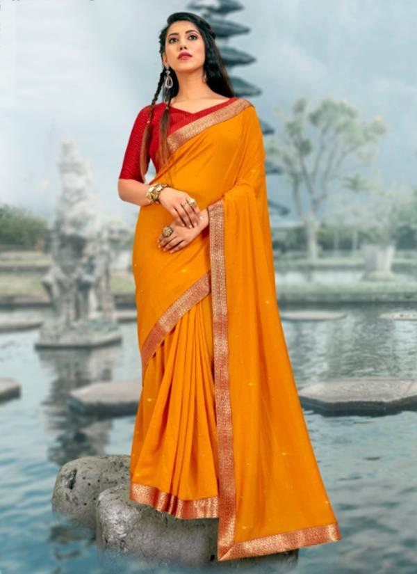 Seemaya Bali Series 2201-2208 Vichitra Silk Blooming Big Border With Diamond Work Latest Designer Casual Wear Sarees Collection