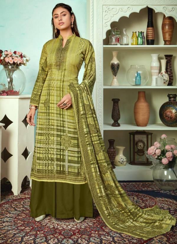 Rolimoli Mallika Series MALLIKA-1001-MALLIKA-1010 Heavy Cotton Beautiful Print With Additional Work New Fancy Palazzo Suits Collection